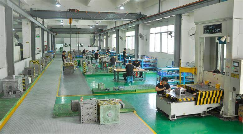 Plastic injection mold making work shop